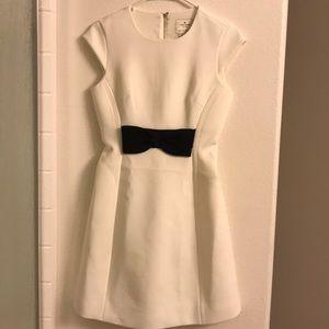 Kate Spade white dress with black bow detail